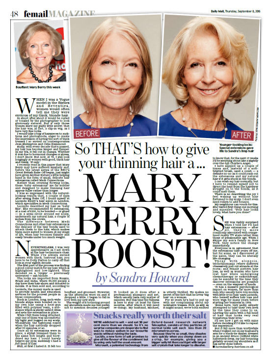 Mail article by Sandra Howard