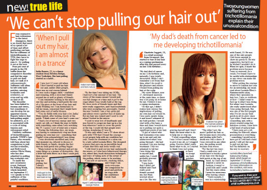 New! magazine article - We Can't stop pulling out our hair
